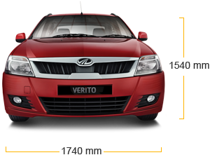 Mahindra Verito Height Dimensions